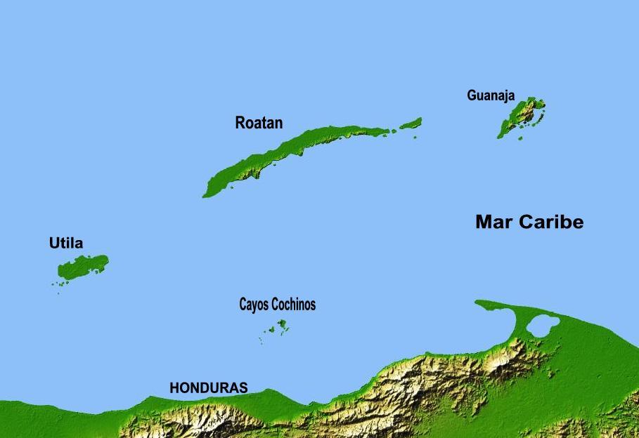 Map of Utila